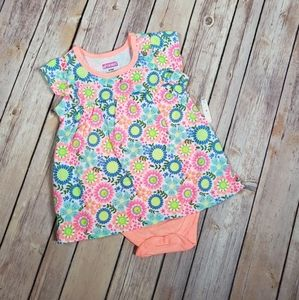 Infant Dress One Piece Romper Neon Floral Baby